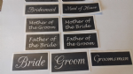 Wedding word stencils mix for etching on glass  favor  - Bride Best Man Groom Bridesmaid Groomsman Maid on Honor Father of the Bride Flower Girl